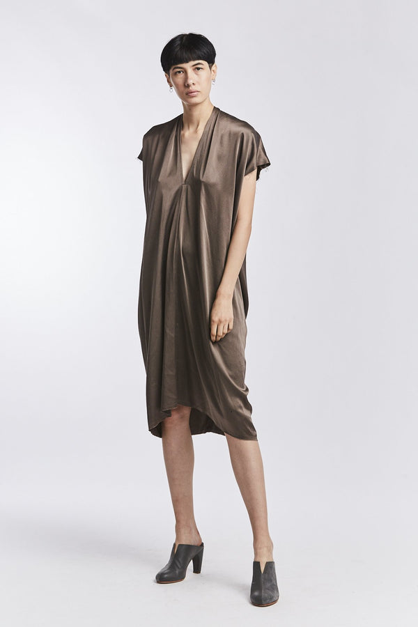Everyday Dress, Silk Charmeuse in Badlands