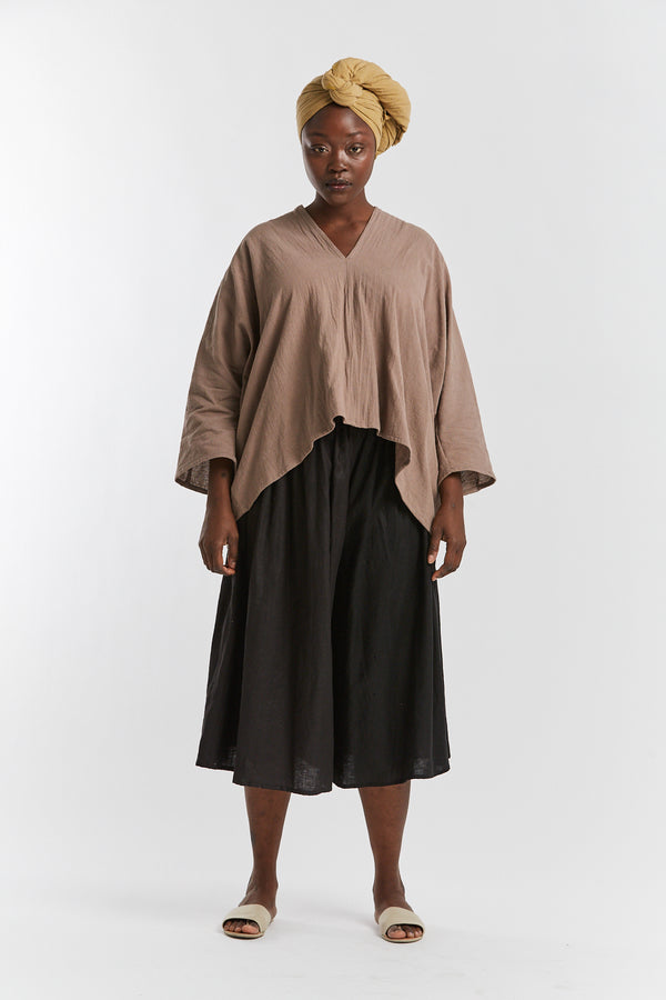 Muse Top, Textured Cotton in Faroe