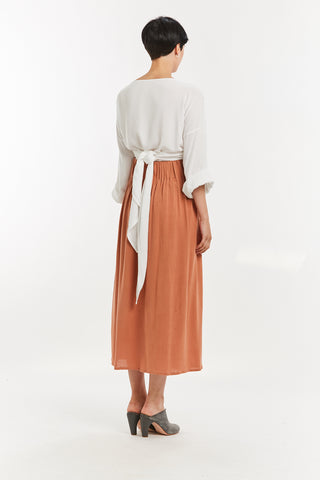 Paper Bag Skirt, Rayon in Abilene