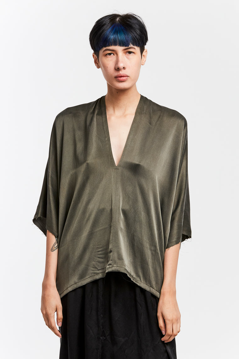 Muse Top, Silk Charmeuse in Lanai