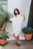 Muse Dress, Cotton Bubble Gauze in White