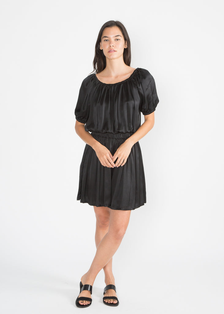 Harlow Short, Silk Charmeuse in Black