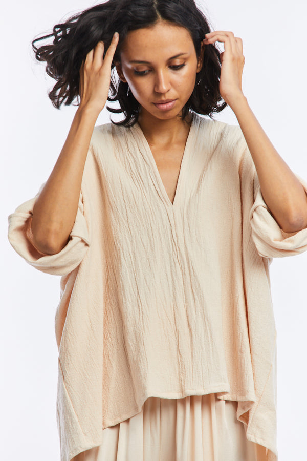 Muse Top, Textured Cotton in Jaipur