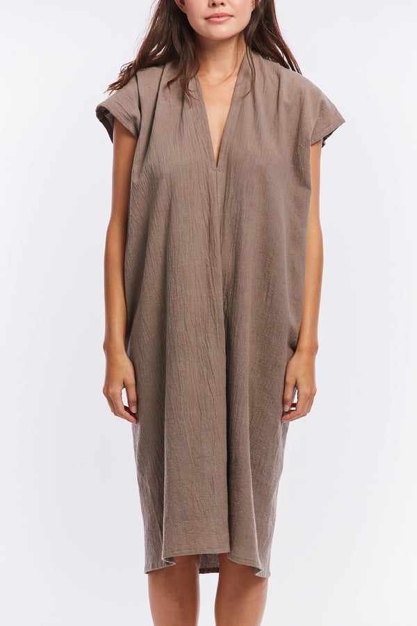 Petite Everyday Dress, Textured Cotton in Faroe