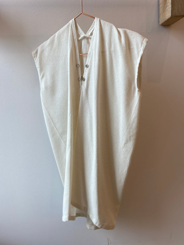 Kid's Everyday Dress, Silk Noil in Natural