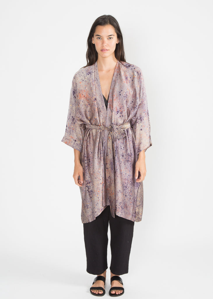 Bundle Dyed Robe, Silk Charmeuse in Supernova