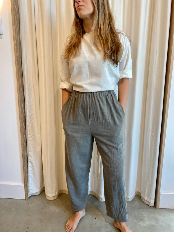 Hadid Pant, Silk Noil in Inverness