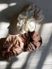 Scrunchie, Silk Noil in Natural