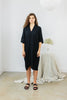 Muse Dress, Cotton Bubble Gauze in Black