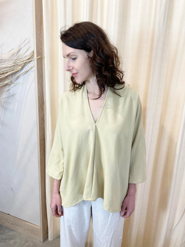 Muse Top, Silk Noil in Myrobalan FINAL SALE