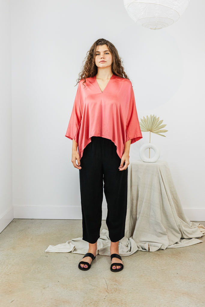 Muse Top Silk Charmeuse in Yucatan