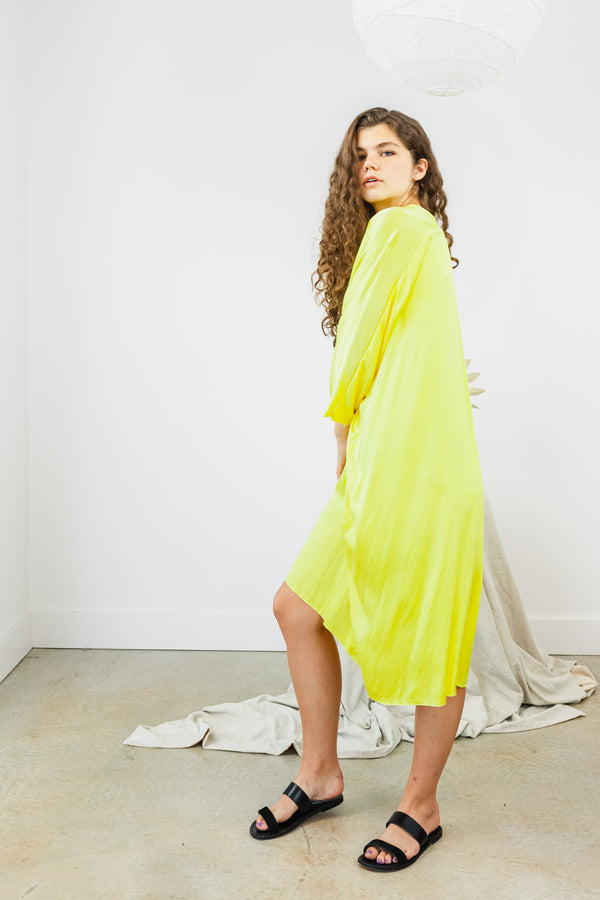 Muse Dress, Silk Charmeuse in Citron FINAL SALE