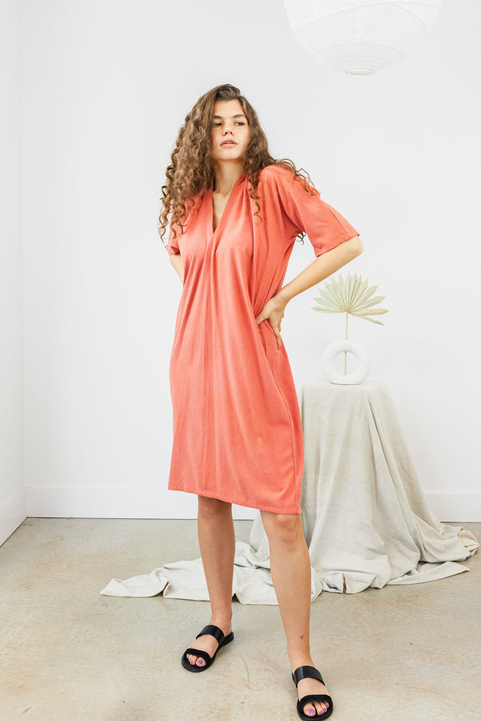 Muse Dress, Silk Noil in Yucatán FINAL SALE