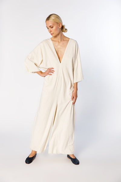 Muse Jumpsuit, Silk Noil in Natural