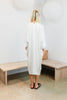 O'Keeffe Dress, Silk Charmeuse in White  FINAL SALE