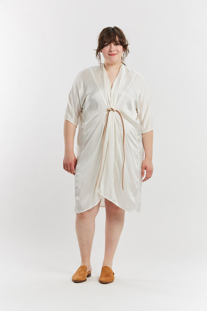 O'Keeffe Dress, Silk Charmeuse in White