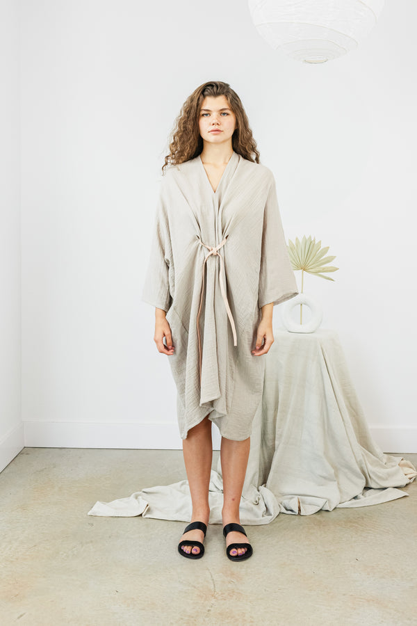 O'Keeffe Dress, Bubble Gauze in Isla