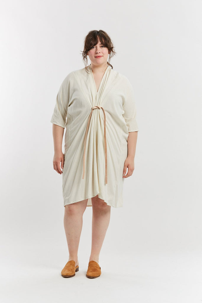 O'Keeffe Dress, Silk Noil in Natural