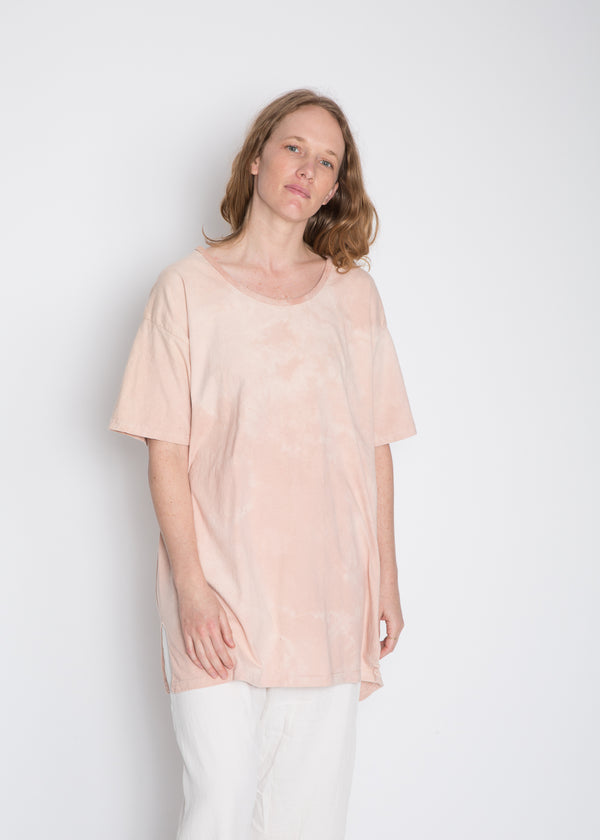 MBS Naturally Dyed Sleep Shirt, Organic Cotton in Avocado Tie-Dye