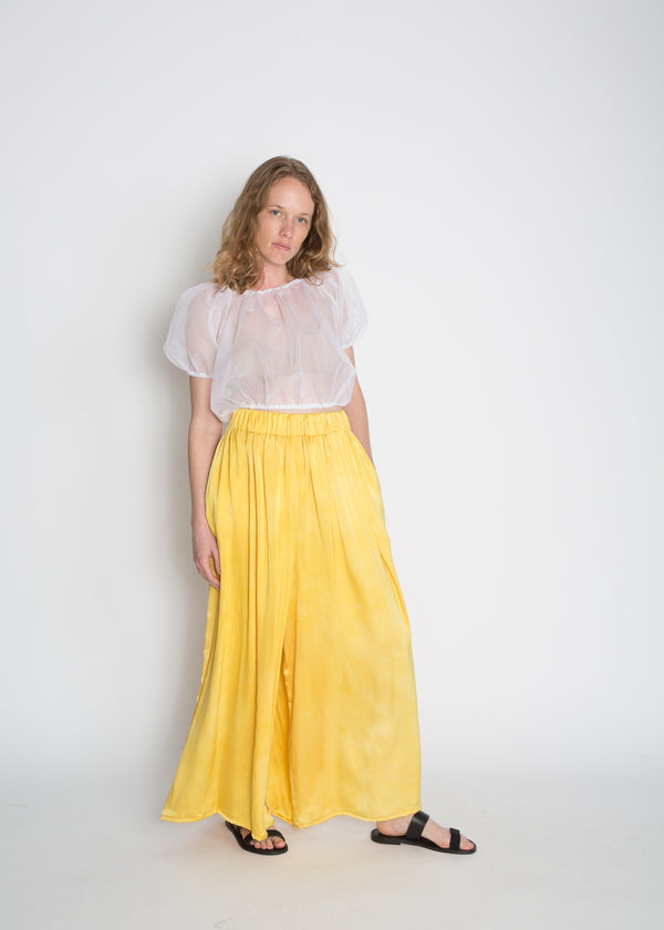 Palazzo Pant, Silk Charmeuse in Weld