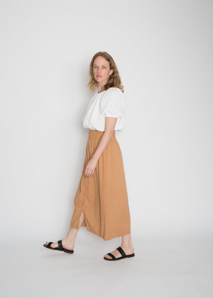 Paper Bag Skirt, Cotton Lyocell in Mesa