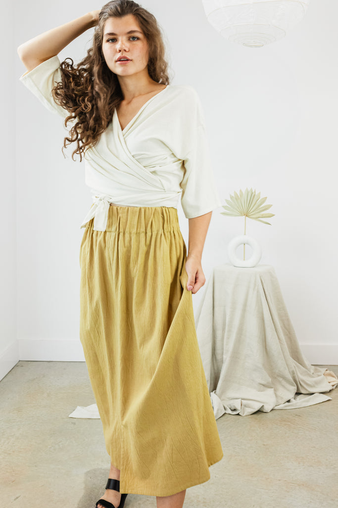 Paper Bag Skirt, Cotton Lyocell in Jalisco