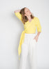 Petite Wrap Top, Bubble Gauze in Citron