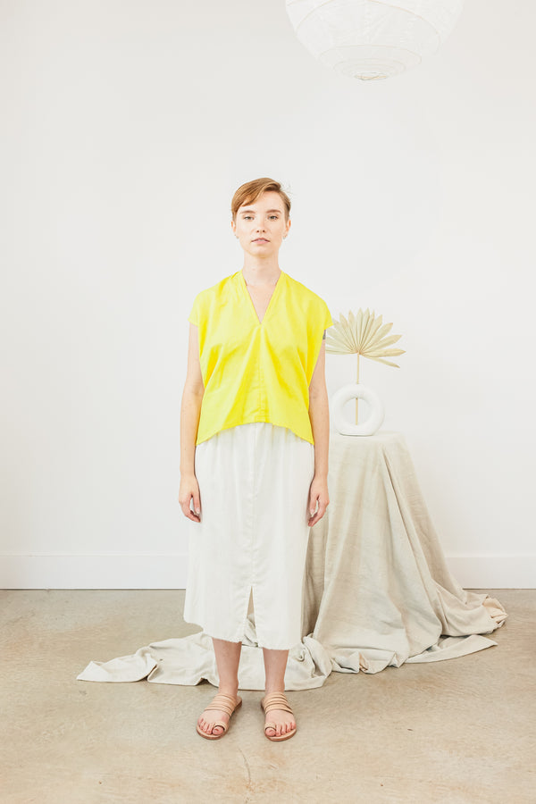 Everyday Top, Linen in Citron