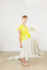Petite Everyday Top, Cotton Linen in Citron