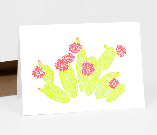Prickly Pear Cactus Card by Etc Letterpress