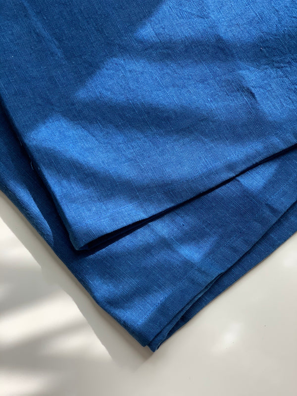Miranda Bennett Studio Linen Table Runner in Indigo, Naturally Dyed In-House