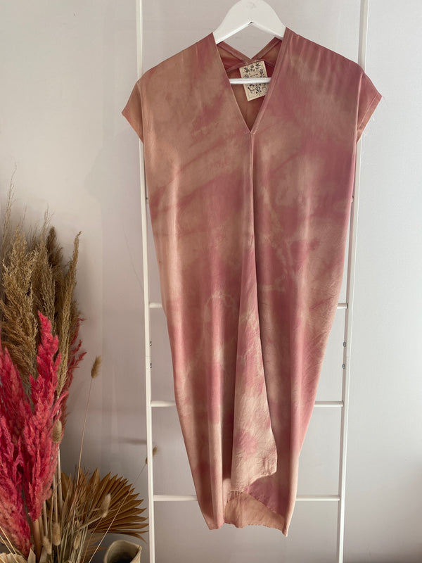 LIMITED EDITION: Petite Everyday Dress, Silk Charmeuse in Bardot Overdye V.3