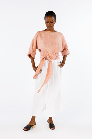 Wrap Top, Linen in Provence
