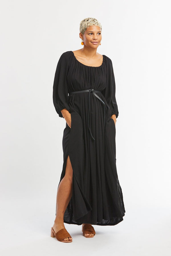 Cassatt Dress, Rayon in Black
