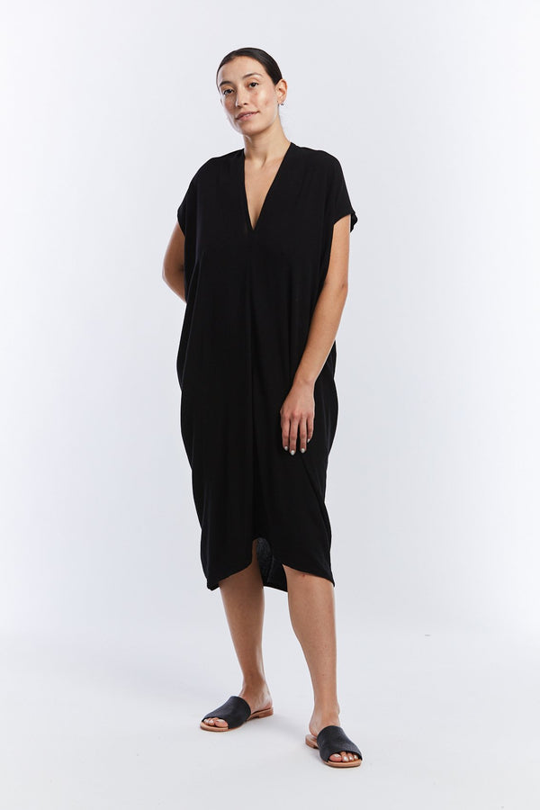 Everyday Dress, Rayon in Black