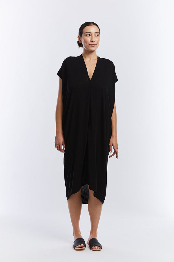 Everyday Dress, Rayon Crepe in Black