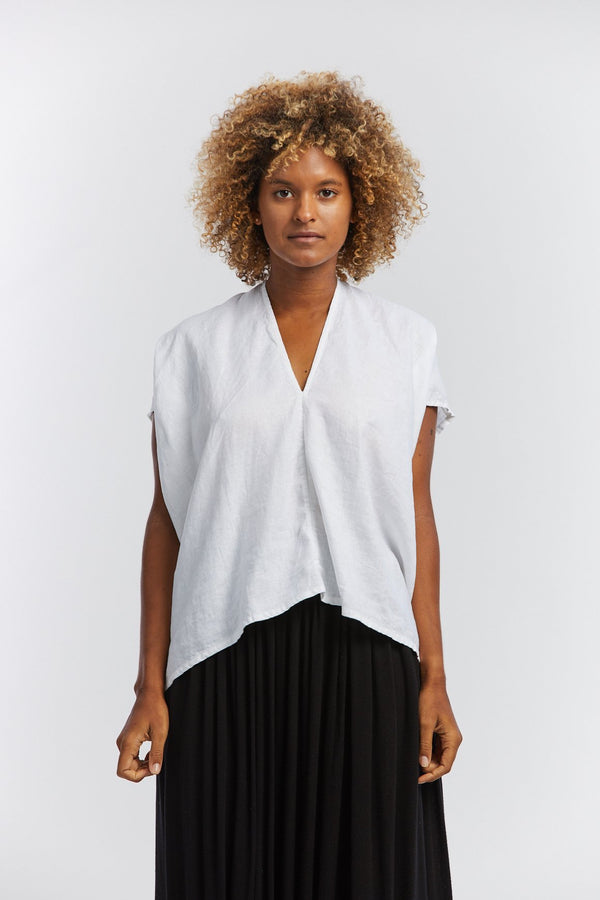 Everyday Top, Cotton Dobby in White  FINAL SALE