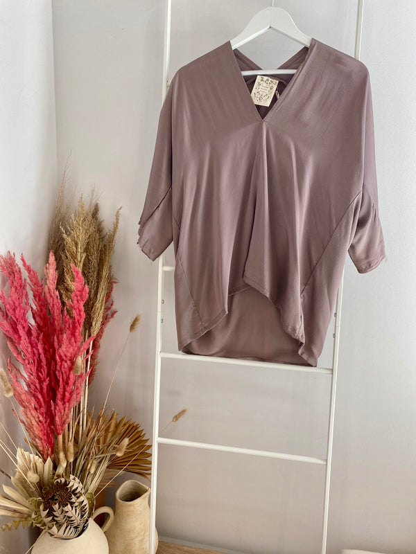 Muse Top, Silk Charmeuse in Supernova