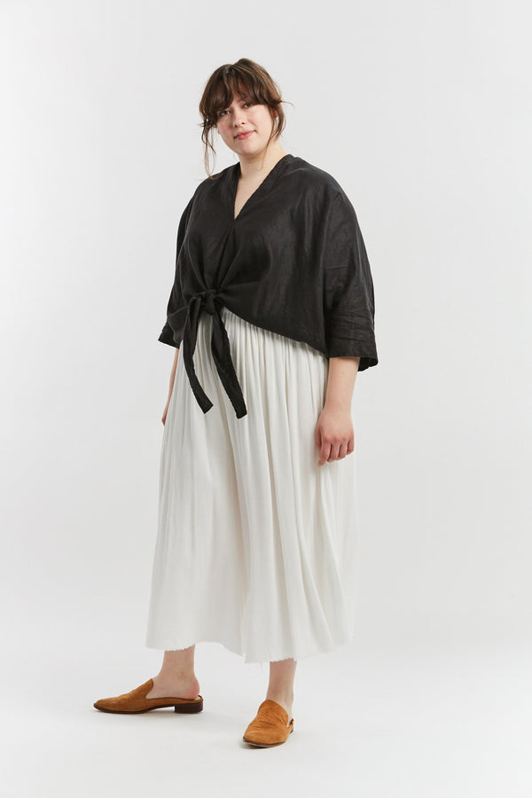 Kahlo Top, Linen in Black