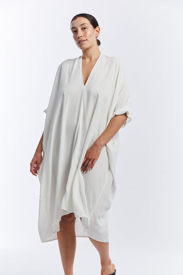 Muse Dress, Rayon in White