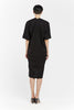 Muse Dress, Silk Noil in Black FINAL SALE