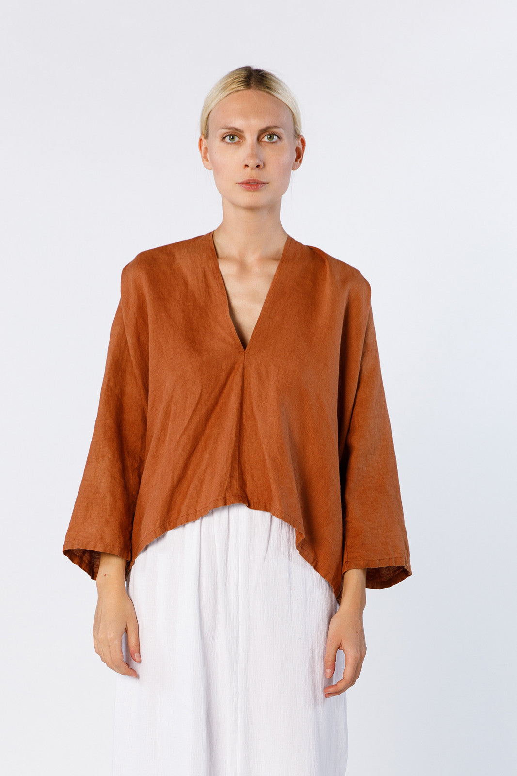 Muse Top, Linen in Marfa