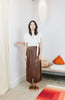 Paper Bag Skirt, Silk Charmeuse in Acacia Iron V.I