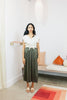 Paper Bag Skirt, Silk Charmeuse in Lanai