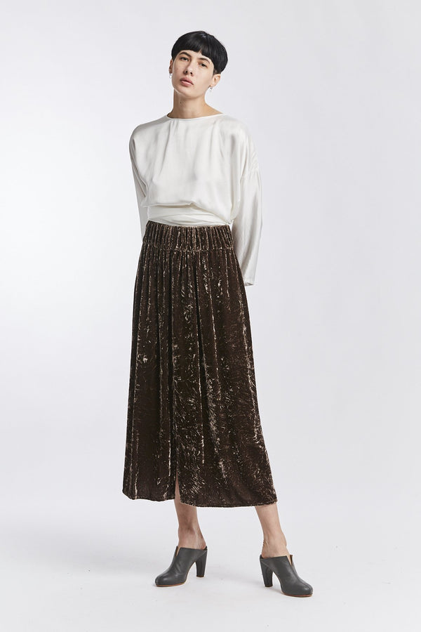 Paper Bag Skirt, Velvet in Abiquiu FINAL SALE