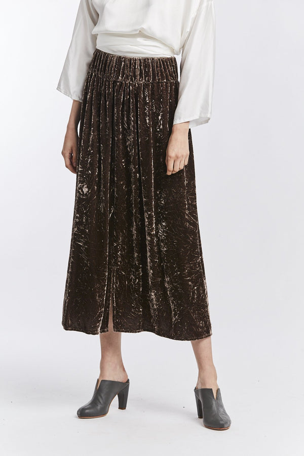 Paper Bag Skirt, Velvet in Abiquiu