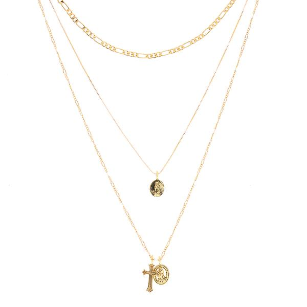 LUV AJ - Isidore Cross Charm Necklace - Gold