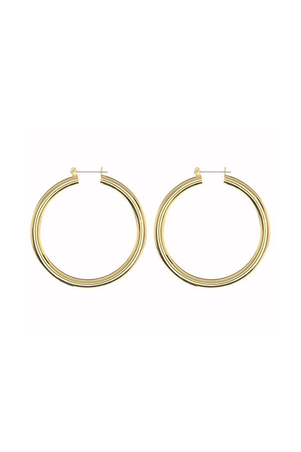 LUV AJ - Amalfi Tube Hoops Gold - Flynn Skye