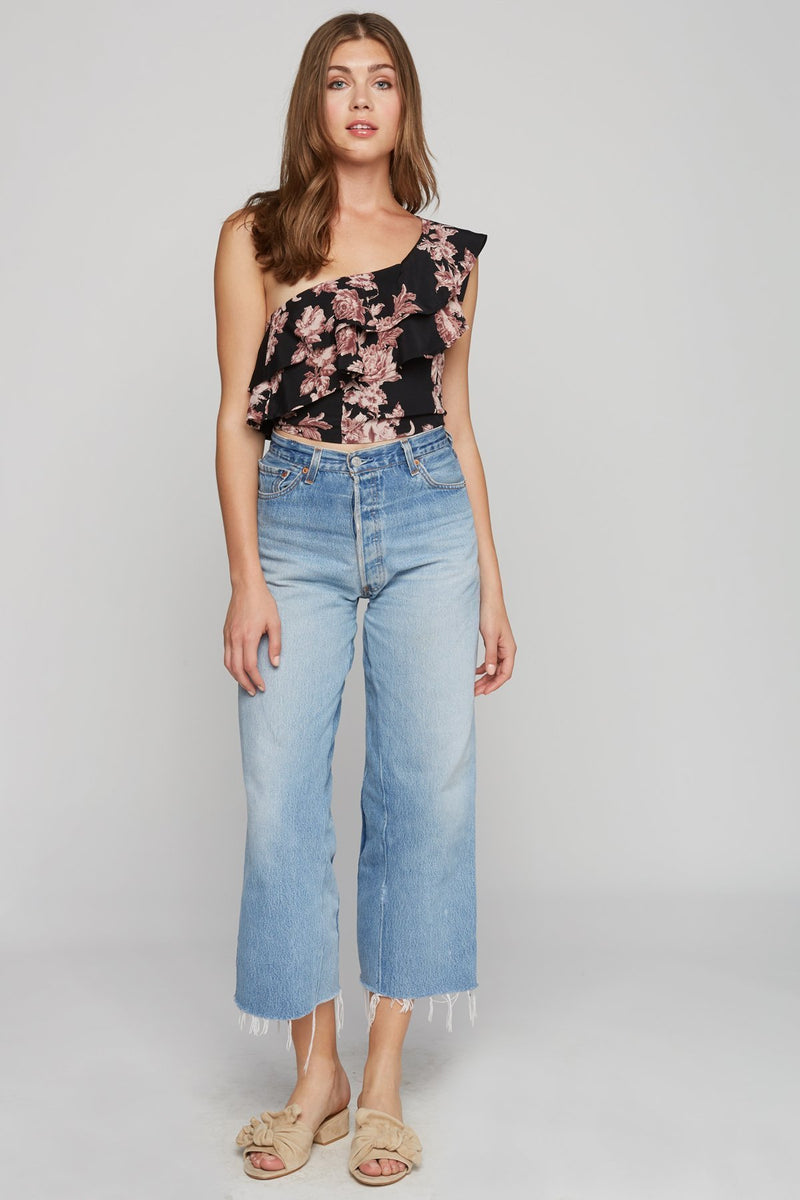 Claire Crop Top - Dramatic Blooms - Flynn Skye