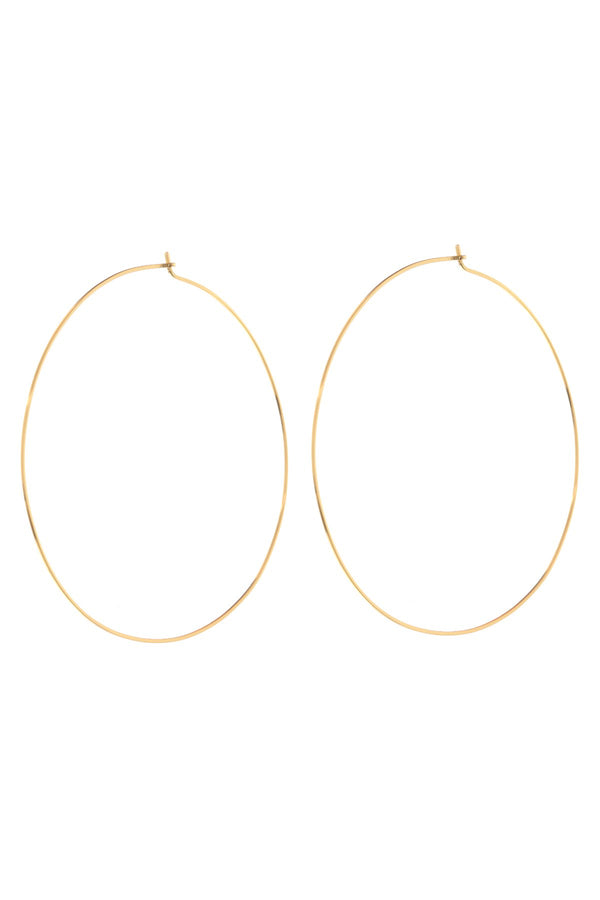 LUV AJ - XL Capri Wire Hoops Gold - Flynn Skye